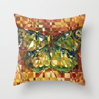 moth Throw Pillows featuring Moth by S.G. DeCarlo
