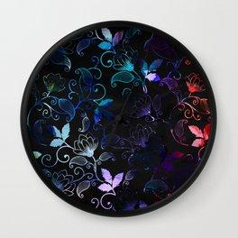 Gradient Floral Pattern Wall Clock