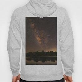 Summer Milky Way Over the Lake Hoody