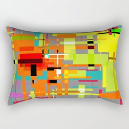 Lines and Sqaures Rectangular Pillow