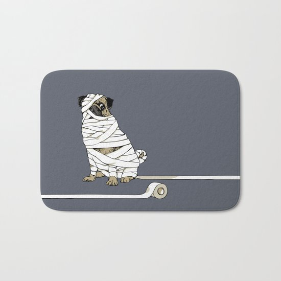The Mummy Pug Return Bath Mat