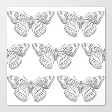 Butterfly dots Canvas Print
