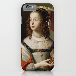 Gerard van Honthorst - Portrait of Sophia, Princess Palatine, 1641 iPhone Case
