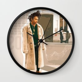 Luka Sabbat Fashion Illustration // Mens Fashion Illustration Wall Clock