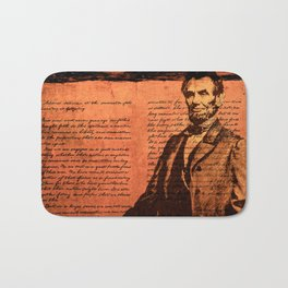 Abraham Lincoln and the Gettysburg Address Bath Mat