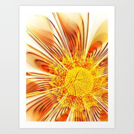 Summer Fractal Flower Art Print