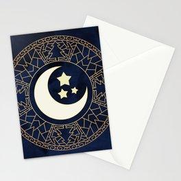 MANDALA MOON AND STARS Stationery Cards