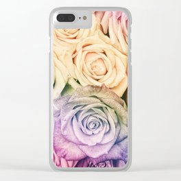 Some people grumble - Colorful Roses - Rose pattern Clear iPhone Case