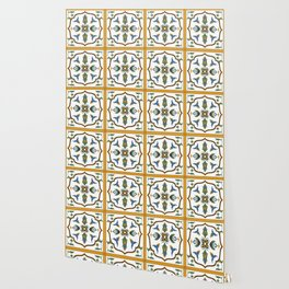Portuguese Tile Pattern - Traditional Azulejos of Portugal Wallpaper