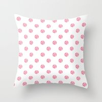 polka dot Throw Pillows featuring Polka Dot by Ryan Winters