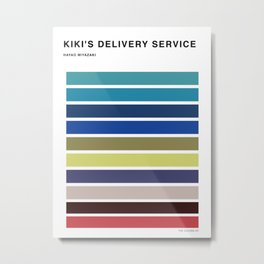 The colors of - kiki's delivery service  Metal Print
