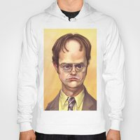 dwight schrute Hoodies featuring Mr. Dwight K Schrute by Ben Anderson