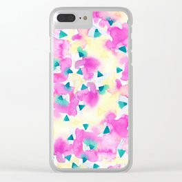 Pink and Blue Summer Breeze Clear iPhone Case