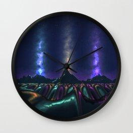 burning peaks Wall Clock