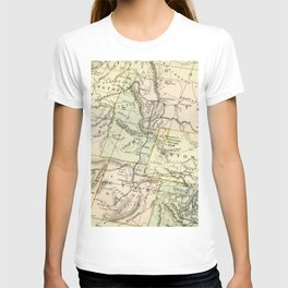 Vintage Map of the West Of The United States T-shirt