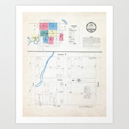 Fort Bragg California Map 1898 Art Print