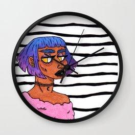Bubblegum Black Wall Clock