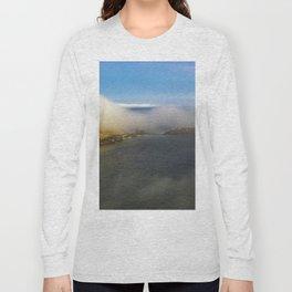 Saltwick Bay as the fog rolls in Long Sleeve T-shirt