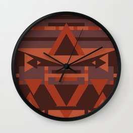 Dusky Earth Geometric Wall Clock