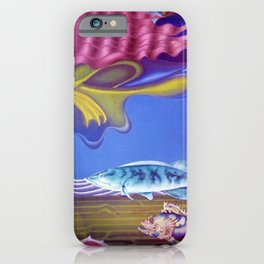Aquatic Vision underwater landscape coral, fish & Poseidon painting by Hilaire Hiler iPhone Case
