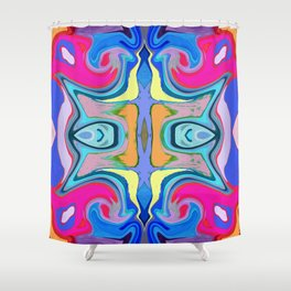 96 - Colour abstract pattern Shower Curtain