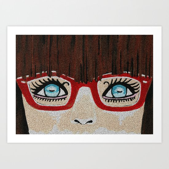 The Girl With The Red Glasses Art Print