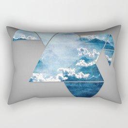 Fragmented Clouds Rectangular Pillow