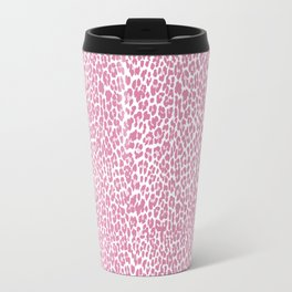 Chic Pink Cheetah Pattern Travel Mug