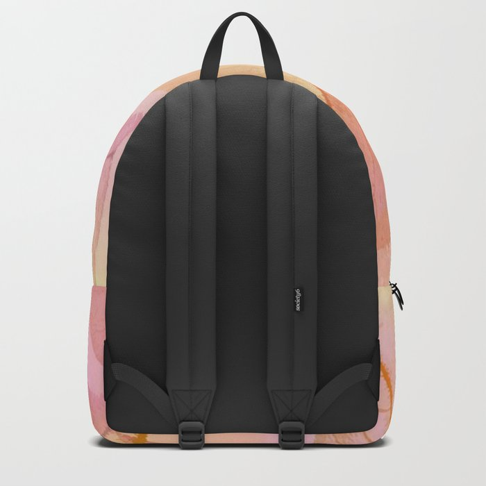 Pastel Fall Leaf Abstract Backpack
