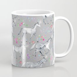 Unicorns and Stars on Soft Grey Coffee Mug
