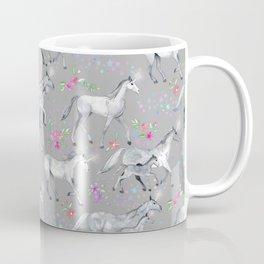 Unicorns and Stars on Soft Grey Coffee Mug