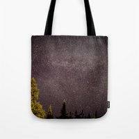 milky way Tote Bags featuring Milky way by Simon Laroche