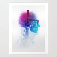 deadmau5 Art Prints featuring Electronic Music Fan by Sitchko Igor