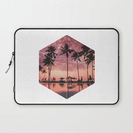 SUNSET PALMS- Geometric Photography Laptop Sleeve
