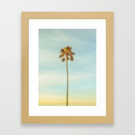 Sunrise Palm Tree Framed Art Print