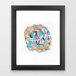 falling foxes Framed Art Print