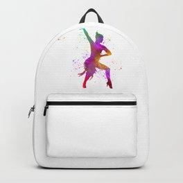 Woman ballroom dance in watercolor 01 Backpack
