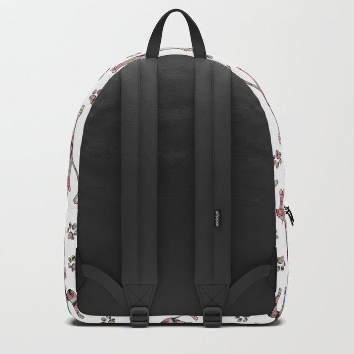 Cartoon cat. Backpack