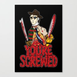 Slasher Mash (SFW) Canvas Print