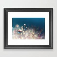 Sparkles & Drops Framed Art Print