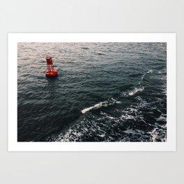 Bouy Red Art Print