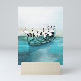 White Cranes Mini Art Print