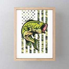 Fishing American Army Framed Mini Art Print