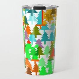 Colorful fir pattern Travel Mug
