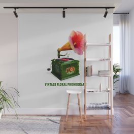ORGANIC INVENTIONS SERIES: Vintage Floral Phonograph Wall Mural