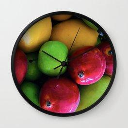 Sweet Luscious Summer Fresh Organic Fruit Wall Clock