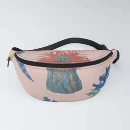 Pattern with sea creatures 5 Fanny Pack