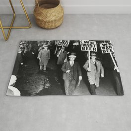 We Want Beer Prohibition Rug