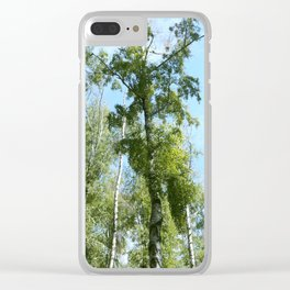 Nature. Blue Sky, Green Trees Clear iPhone Case
