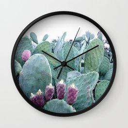 Mint Cactus Wall Clock